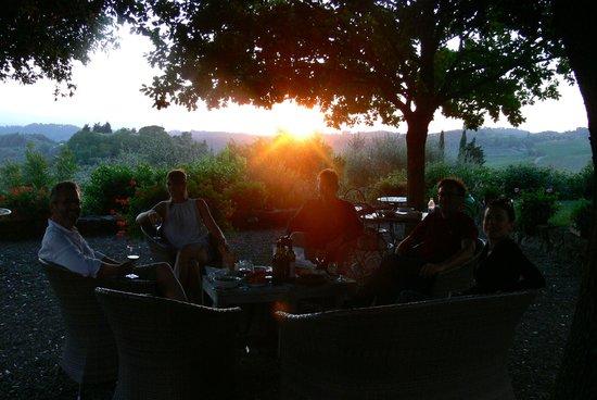 Casale di Villore: Sunset at Villore