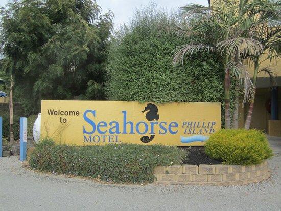 Seahorse Motel: Seahorse sign