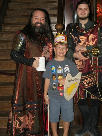 Medieval Times: The cast is happy to take pictures.