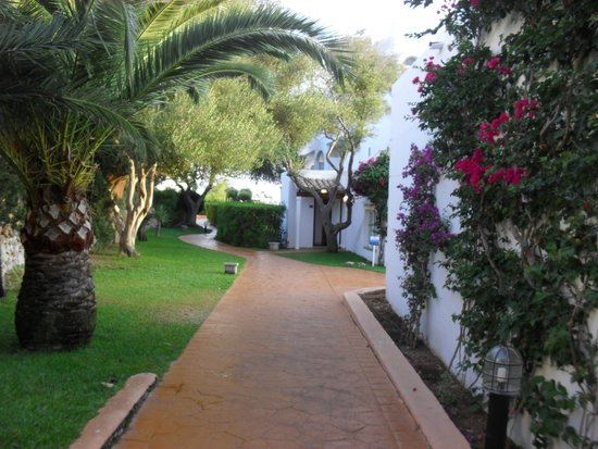 Gavimar Ariel Chico Club Resort : Allée pour accéder à piscine