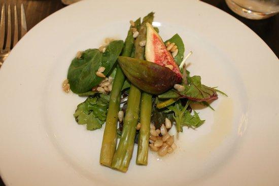 Champneys Springs Health Resort: fig and asparagus starter