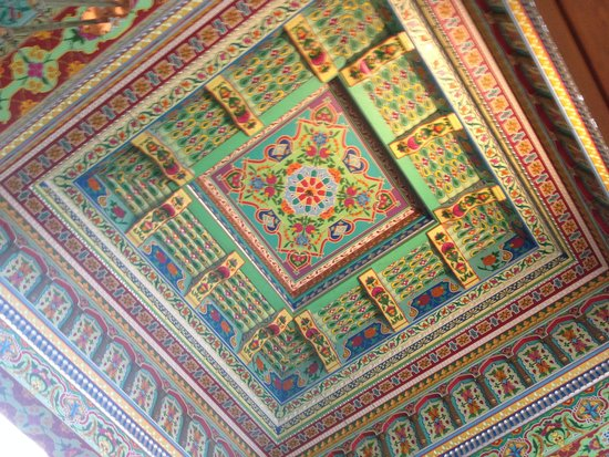 The Boulder Dushanbe Teahouse: The gorgeous ceiling