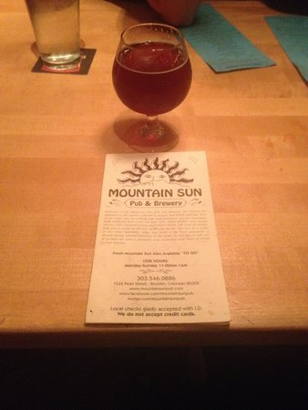 Mountain Sun Pub and Brewery: :-)