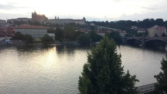 Four Seasons Hotel Prague: View of the Castle from Riverview room
