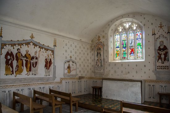 Glastonbury Abbey: View inside the Church