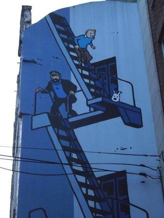 Tintin Mural Painting: Tintin