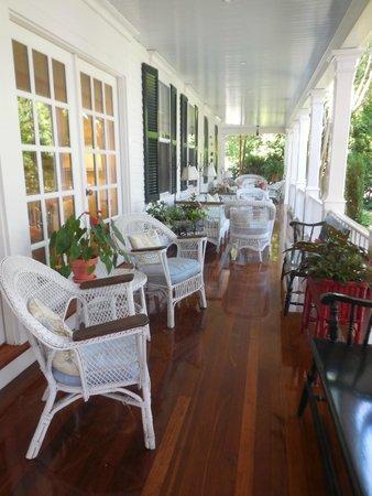 The Hob Knob: Side porch