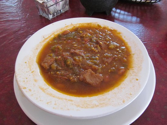 The Jalisco Cafe: Green Chili with Beef--out of this world delicious!