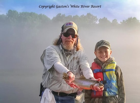 Gaston's White River Resort: Richie is my trout fishing buddy :-) - www.gastons.com