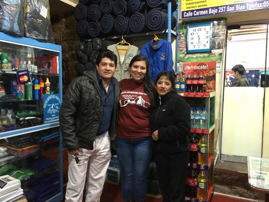 South Adventure Peru Tours : At the agency with owners, Ruben and his wife Tatiana