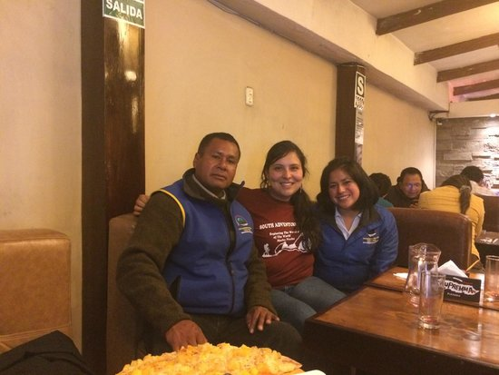 South Adventure Peru Tours : Last dinner with Victoriano and Janet