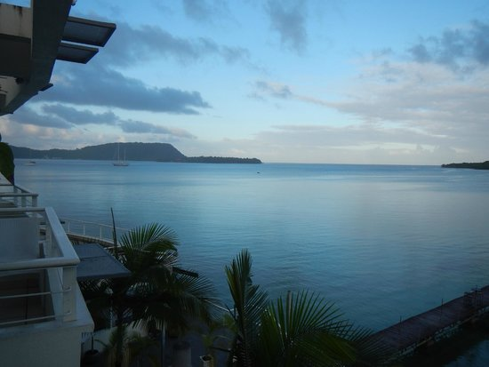 Chantilly's on the Bay: Dawn over Port Vila - stunning view from our balcony