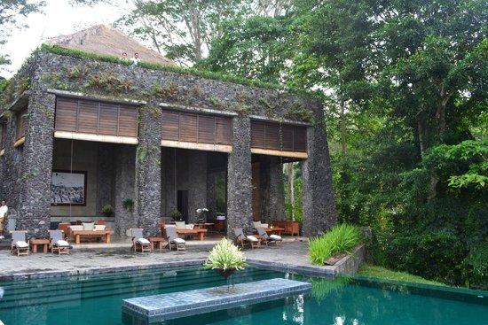 Alila Ubud: Pool bar/restaurant area. Beautiful food