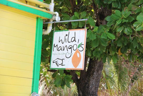 """""""Come on in"""" sign at Wild Mango's"""
