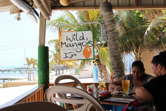 Wild Mango's : Sign inside the eatery