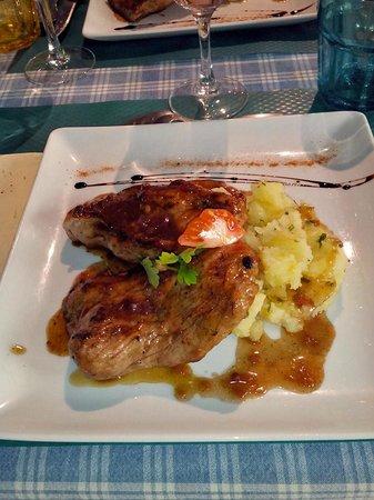 L'Embarcadère : plat servi au menu