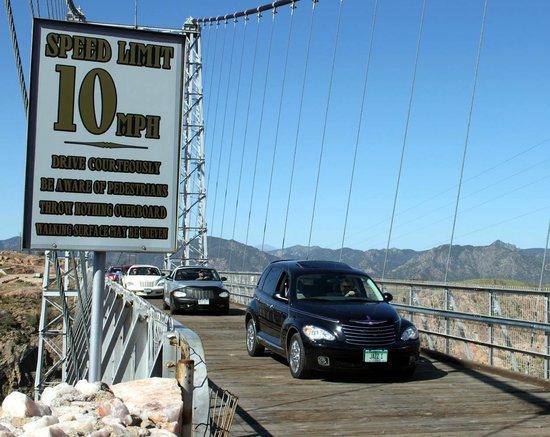 Royal Gorge Bridge and Park: Coming off the bridge.