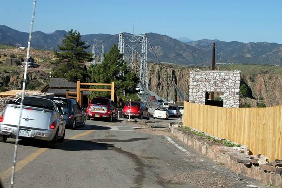 Royal Gorge Bridge and Park : Lots of work to do before the bridge is full functional.
