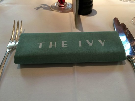 The Ivy: Place setting