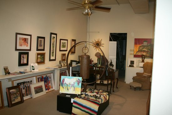 Clifton, TX: Interior of gallery