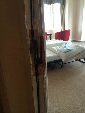 Savoy Hotel: Door frame must of been kicked in a few times