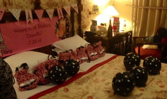 Left Bank Saint Germain: My room decorated for my 60th birthday!