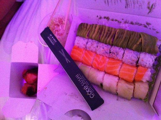 Côté Sushi Marceau : Plateau et tempura