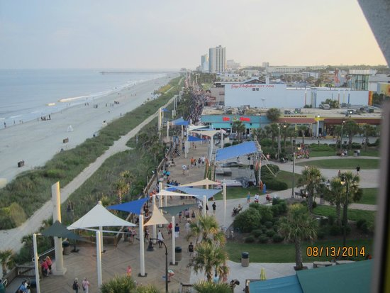 Myrtle Beach Boardwalk & Promenade: view from the SkyWheel