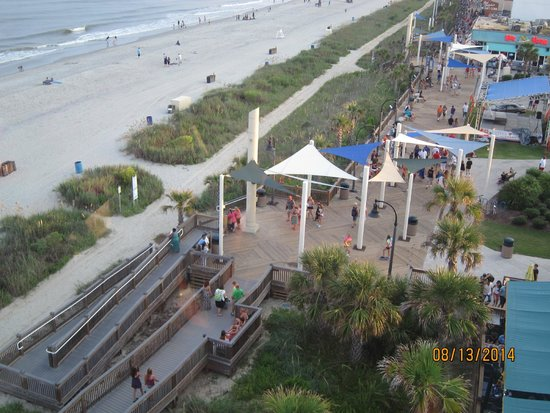 Myrtle Beach Boardwalk & Promenade: looking down from the SkyWheel