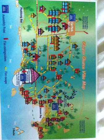 Charm Churee Villa: Plan et N° des bungalows