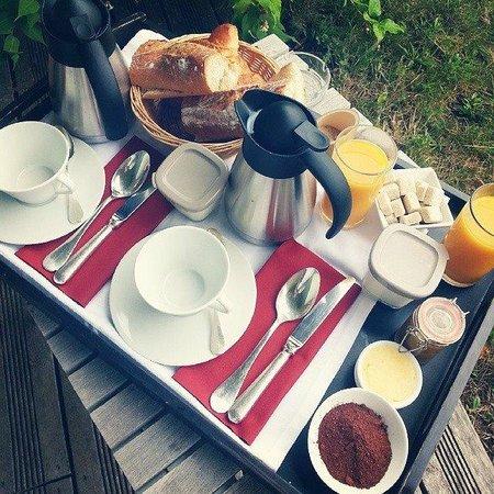 La Gree des Landes : Petit déjeuner