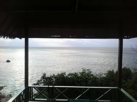 Charm Churee Villa : Magnifique vue depuis le bungalow