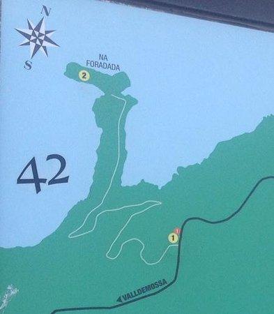 Son Marroig : map of sa forada
