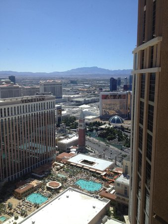 The Palazzo Resort Hotel Casino: looking south over the Venetian