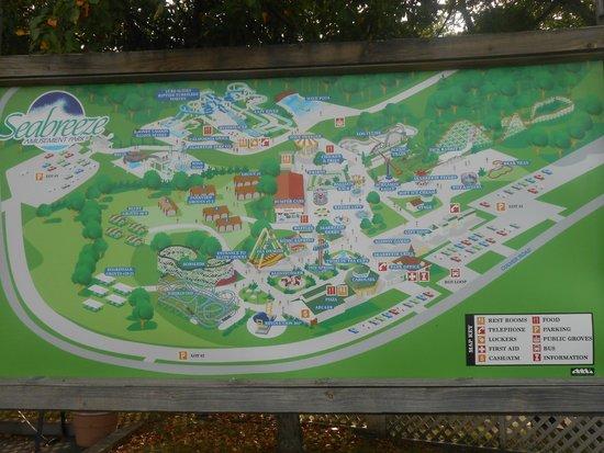 Seabreeze Amusement Park: park map