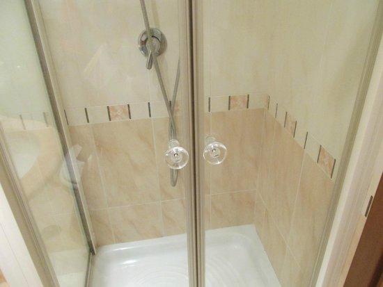 Edera Hotel : シャワールームは熱くて大量のお湯
