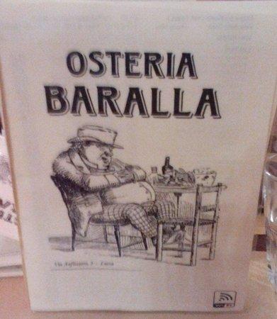 Osteria Baralla : Menu