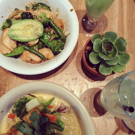 True Food Kitchen: Panang Curry and Teriyaki and Brown Rice