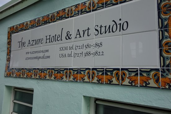 The Azure Hotel: Hotel Sign