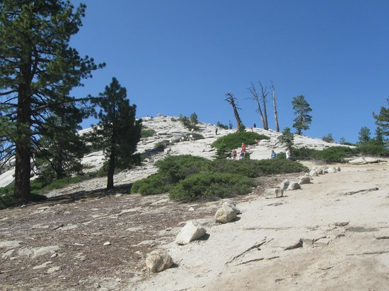 Final ascent of Sentinel Dome