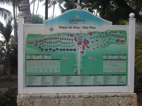 Grand Bahia Principe San Juan : Map of the Bahia Principe Resort