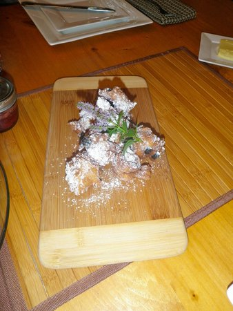 Sauble Falls Bed & Breakfast: Blueberry Fritters made by Doug