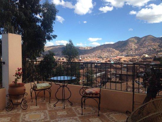 Hostal Qolqampata: Vista del balcón del hostal