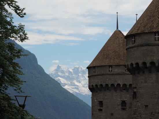 Chateau de Chillon : Mountains from Chillon