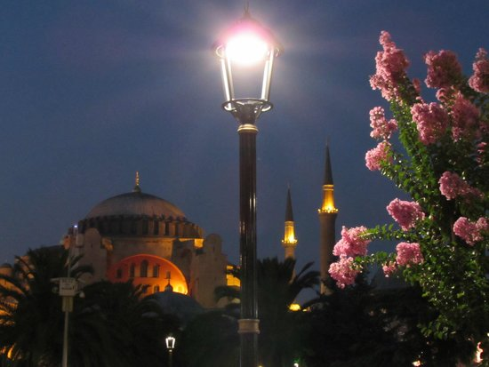 Historic Areas of Istanbul : Hagia Sophia at Night