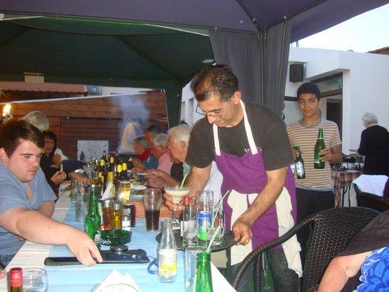 POGO  Snack Bar pervolia Larnaca: Maki kidding on he is busy lol