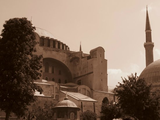 Historic Areas of Istanbul : Hagia Sophia Sepia