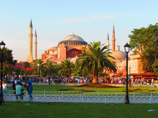 Historic Areas of Istanbul : Hagia Sophia at Sunset