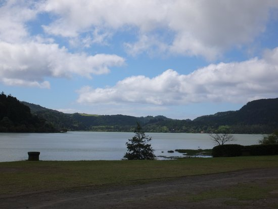 Furnas: View of lake from Geysers