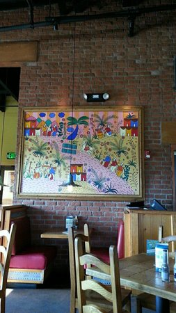 On The Border Mexican Grill : Wall decor was appropriate for this type of restaurant